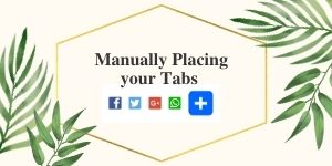 Manually Placing your Tabs